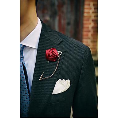 Homens / Mulheres Broches - Flor Broche Azul / Vinho / Azul Claro Para Casamento / Festa / Festa / Eventos