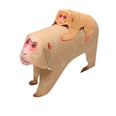 voordelige 3D-puzzels-3D-puzzels Bouwplaat Modelbouwsets Aap Dieren DHZ Klassiek Cartoon Kinderen Unisex Speeltjes Geschenk