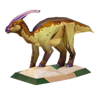 Quebra-Cabeças 3D Maquetes de Papel Brinquedos de Montar Quadrada Pato Dinossauro Faça Você Mesmo Cartão de Papel Duro Clássico Para