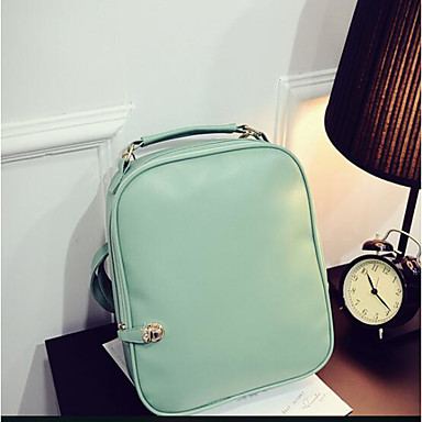 Women Bags PU Backpack for Casual All Seasons Green Black Yellow