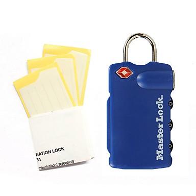MasterLock 4685DBLR Password Unlocked 3 Digit Password Dail Lock and Password Lock Luggage Lock TSA Lock