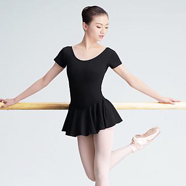 Baletti Trikoot Naisten Kouluts Spandex 1 Kappale Lyhyt hiha Korkea Trikoot