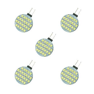 5pçs 2.5W 189lm G4 Luminárias de LED  Duplo-Pin 24 Contas LED SMD 2835 Branco Quente / Branco 12V / 5 pçs