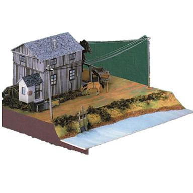Quebra-Cabeças 3D Artesanato de Papel Casa Simulação Faça Você Mesmo Cartão de Papel Duro Clássico Crianças Para Meninos Unisexo Dom