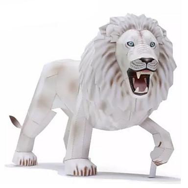 Quebra-Cabeças 3D Maquetes de Papel Artesanato de Papel Brinquedos de Montar Leão Animais Faça Você Mesmo Cartão de Papel Duro Clássico