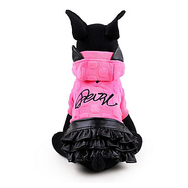 Dog Dress Dog Clothes Princess Yellow Fuchsia Cotton Costume For Pets Men's Women's Casual / Daily