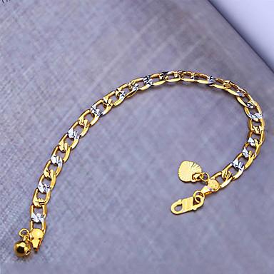 Men's Women's Silver Plated Gold Plated Bohemian Chain Bracelet - Bohemian Hip-Hop Fashion Punk Geometric Irregular Gold Bracelet For