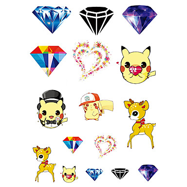Temporary Wrist Body Cartoon Series 3D Rose Waterproof Tattoos Stickers Non Toxic Glitter Large Fake Tattoo Halloween Gift 22*15cm