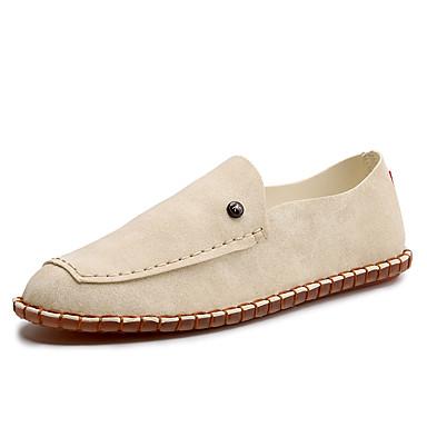 Homens sapatos Couro Primavera Outono Conforto Mocassins e Slip-Ons Combinação para Casual Escritório e Carreira Ao ar livre Branco Preto