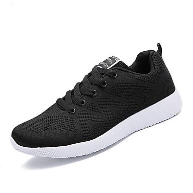 Herre sko ånd bare Blanding Vår Høst Komfort Treningssko til Avslappet Svart Grå Blå