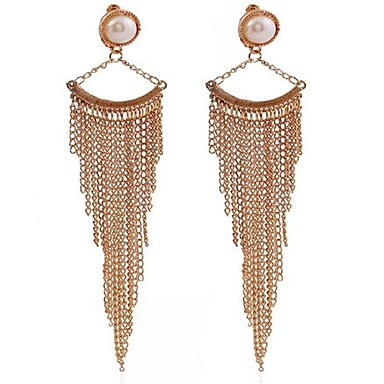 Women's Imitation Pearl Personalized Tassel Sexy Fashion Alloy Geometric Jewelry For Wedding Party Birthday Other Engagement Evening