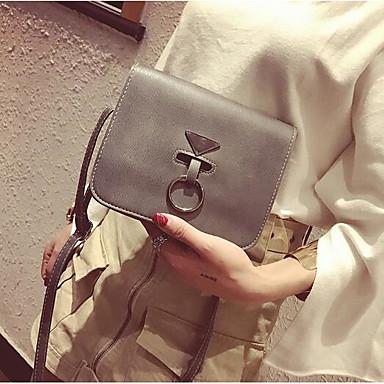 Women Bags All Seasons PU Shoulder Bag for Casual Outdoor Green Gray Brown