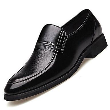 Miehet kengät Kiiltonahka PU Kevät Comfort häät Kengät Käyttötarkoitus Häät Kausaliteetti Musta