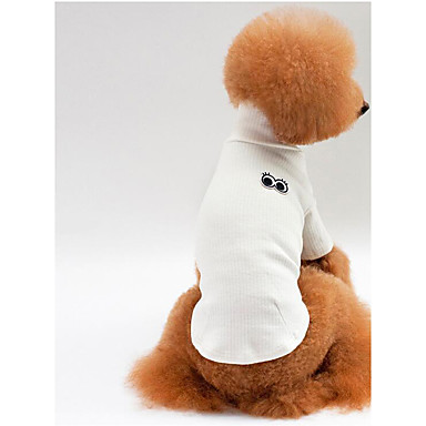 Dog Shirt / T-Shirt Dog Clothes Breathable Casual/Daily Solid White Gray Red Pink Costume For Pets