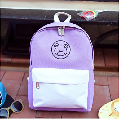 Women's Bags Nylon Backpack for Casual All Seasons White Black Blushing Pink Amethyst