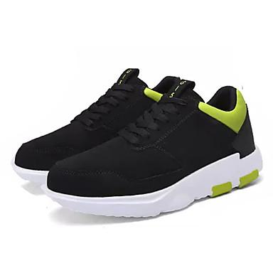 Homens sapatos Couro Ecológico Primavera Outono Conforto Tênis Cadarço para Casual Preto Branco / Preto Preto / Vermelho Preto / Verde