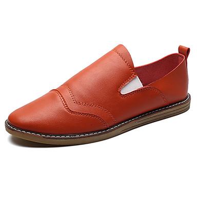 Homens sapatos Couro Ecológico Primavera Outono Conforto Mocassins e Slip-Ons para Ao ar livre Branco Preto Khaki