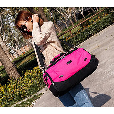 Unisex Bags All Seasons PU Polyester Travel Bag for Casual Outdoor Black Gray Fuchsia