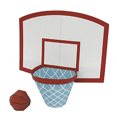3D Puzzles Balls Paper Model Basketball Toy Paper Craft Model Building Kit Basketball DIY Classic Kid's Unisex Gift