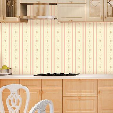 Listrado Art Deco Flor Decoração para casa Moderno/Contemporâneo Revestimento de paredes, PVC/Vinil Material Auto-adesivo papel de parede