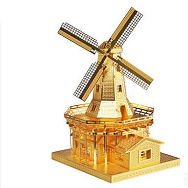 3D-puslespill Puslespill Metallpuslespill Vindmølle Vindmølle Arkitektur 3D GDS Aluminium Metall Klassisk Unisex Gave