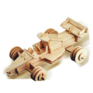3D-puslespill Metallpuslespill Tremodeller Modellsett Bil GDS Naturlig Tre Klassisk 6 år og oppover