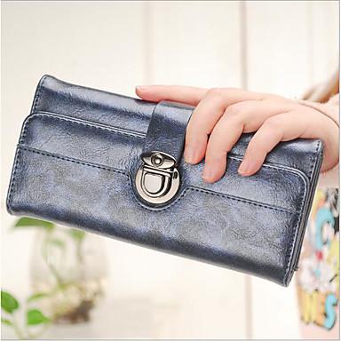 Women Coin Purse PU All Seasons Rectangle Zipper Blue Silver Red
