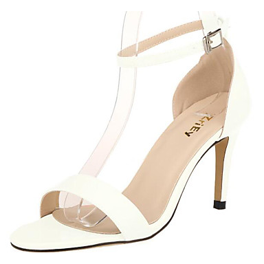 Women's Shoes Patent Leather Summer Basic Pump Sandals For Casual White Black Gray Pink