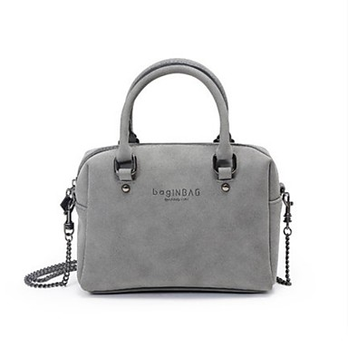 Women Bags All Seasons Other Leather Type Shoulder Bag for Casual Gray