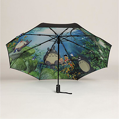 Plastic Men's / Women's / Boys' Sunny and Rainy Folding Umbrella