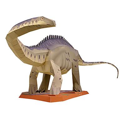 Quebra-Cabeças 3D Maquetes de Papel Brinquedos de Montar Quadrada Dinossauro Faça Você Mesmo Cartão de Papel Duro Clássico Unisexo Dom