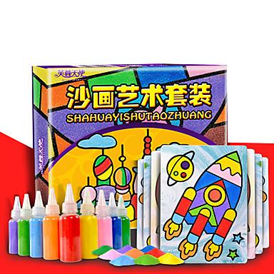 Brinquedo de Arte & Desenho Quadrada Pintura Faça Você Mesmo Clássico Crianças