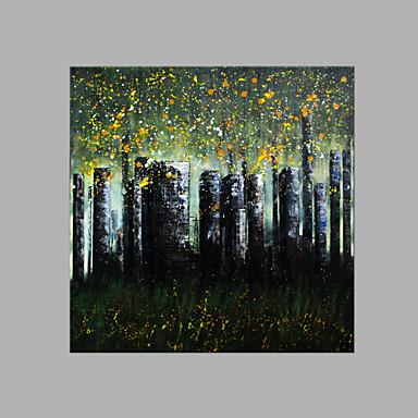 Pintados à mão Paisagem Quadrada, Abstracto Tela de pintura Pintura a Óleo Decoração para casa 1 Painel