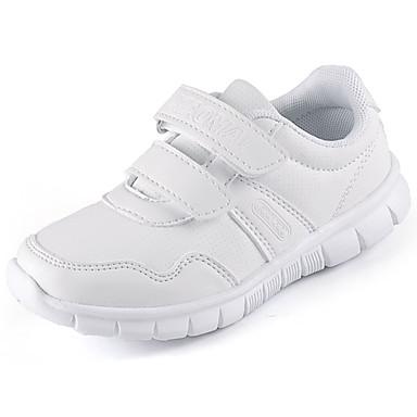 Para Meninos sapatos Courino Primavera Outono Conforto Mocassins e Slip-Ons Caminhada Velcro Para Casual Branco