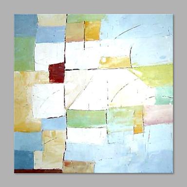 Hang festett olajfestmény Kézzel festett - Absztrakt Absztrakt Modern stílus Vászon