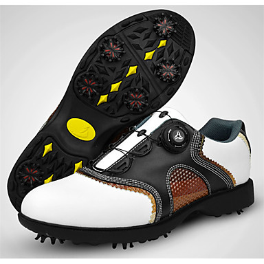 Men's Golf Shoes Rubber Golf, Wearable, Breathable Nappa Leather / Cowhide