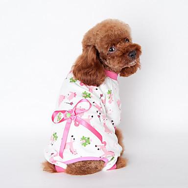 Hund Kjeledresser Hundeklær Sløyfeknute Gul Blå Rosa Bomull Kostume For kjæledyr Sommer Herre Dame Fritid / hverdag