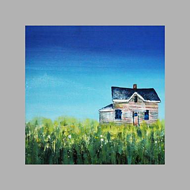 Pintados à mão Abstrato Panorâmico vertical, Artistíco Abstracto Tela de pintura Pintura a Óleo Decoração para casa 1 Painel