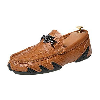 Férfi Kényelmes cipők Bőr / Disznóbőr Nyár / Ősz Papucsok & Balerinacipők Gyalogló Fekete / Sötétkék / Barna