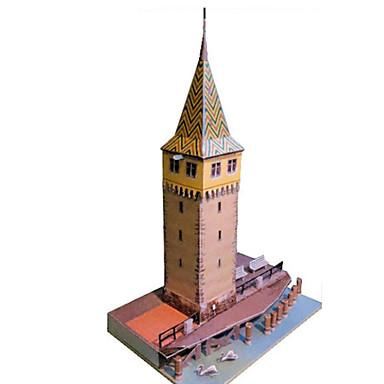 Quebra-Cabeças 3D Maquetes de Papel Artesanato de Papel Brinquedos de Montar Torre Construções Famosas Arquitetura Chinesa Farol Faça