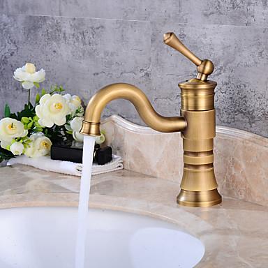 Centerset Ceramic Valve One Hole Antique Copper, Bathroom Sink Faucet
