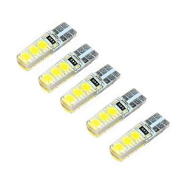 2w DC12V valkoinen T10 smd5050 6led koristeellinen lamppu lukuvalo rekisterikilven valo oven lampun 5kpl
