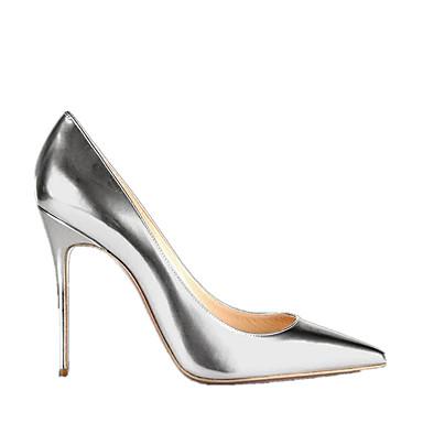Creuse Or Femme Talons Eté 06008801 Bout ouvert Rivet Chaussures Chaussures Argent Aiguille formelles Chaussures à Similicuir Talon Automne 6pZ8wx6qr