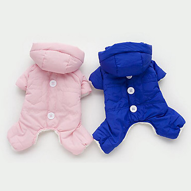 Dog Jumpsuit Dog Clothes Warm Breathable Casual/Daily Solid Orange Yellow Blue Pink Costume For Pets