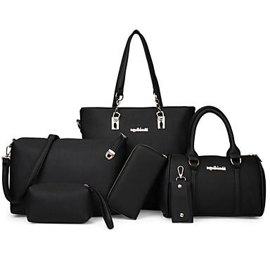 Women's Bags PU(Polyurethane) Bag Set 6 Pieces Purse Set Rivet / Zipper Pink / Gray / Brown / Bag Sets