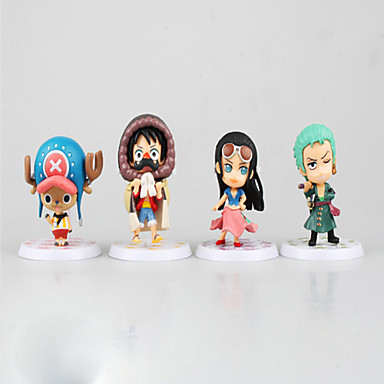 Anime Toimintahahmot Innoittamana One Piece Monkey D. Luffy 7 CM Malli lelut Doll Toy