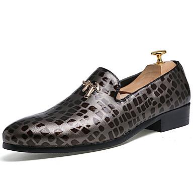 Miesten kengät PU Kevät Syksy Comfort Mokkasiinit varten ulko- Valkoinen Musta Punainen