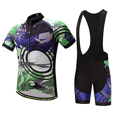 Homens Camisa com Bermuda Bretelle Moto Conjuntos de Roupas Verão