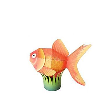Quebra-Cabeças 3D Maquetes de Papel Artesanato de Papel Brinquedos de Montar Quadrada Peixes Simulação Faça Você Mesmo Clássico Crianças