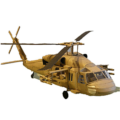 3D Puzzles Paper Model Model Building Kit Square Plane / Aircraft Eagle Helicopter Hard Card Paper All Ages